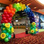 Rainbow Balloon Arch for CTC Travel