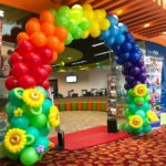 Rainbow and Sunflower Balloon Arch Singapore