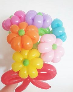 Colourful Balloon Flower Sculptures Delivery