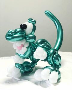 Green Balloon Dinosaur Sculpture Delivery