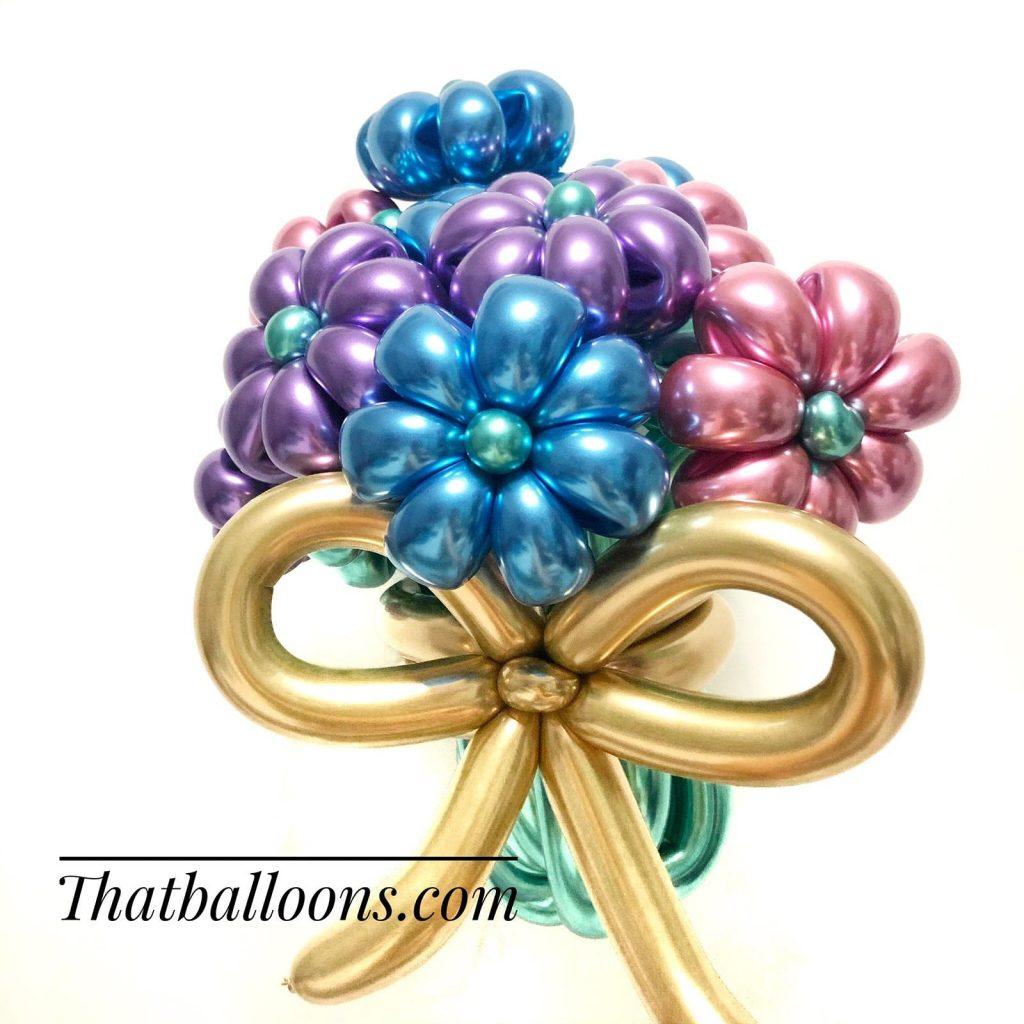 Premium Chrome Balloon Flowers Delivery