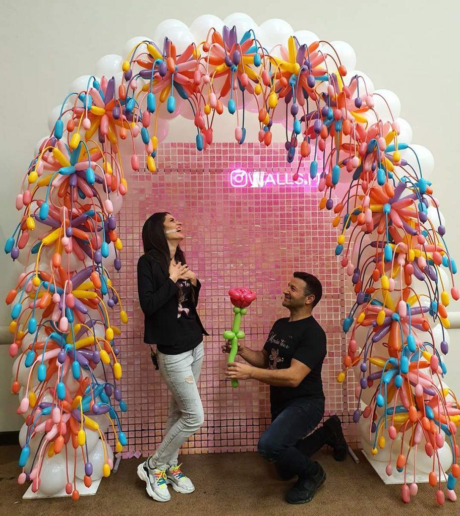 Rainbow Balloon Fireworks Arch Decorations