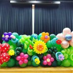 Stage Front Flowers Balloon Decorations