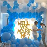 Will you marry me balloon decoration