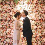 Flower wall backdrop for wedding rental
