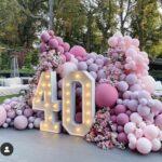 customised organic balloon garlands for birthdays