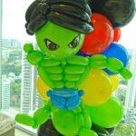 Hulk balloon decoration