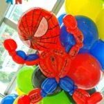 Spiderman balloon decoration