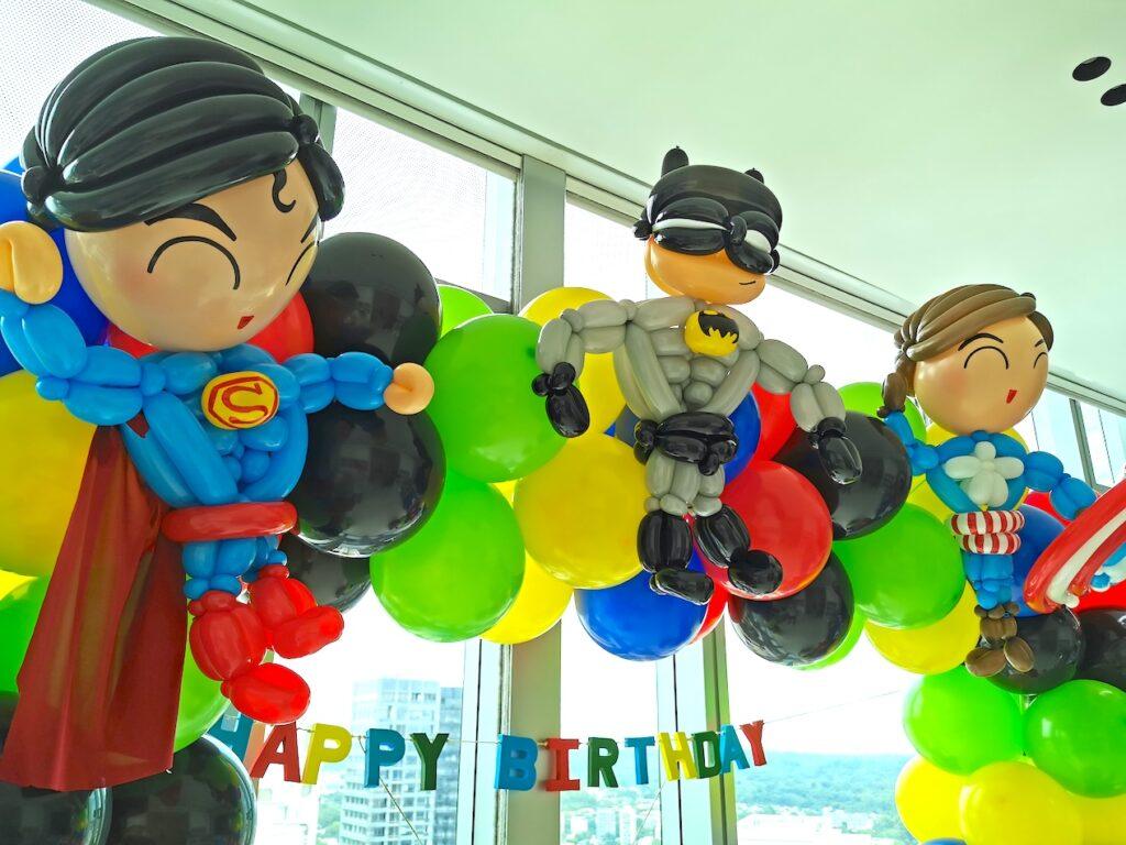 Superhero Balloon decorations