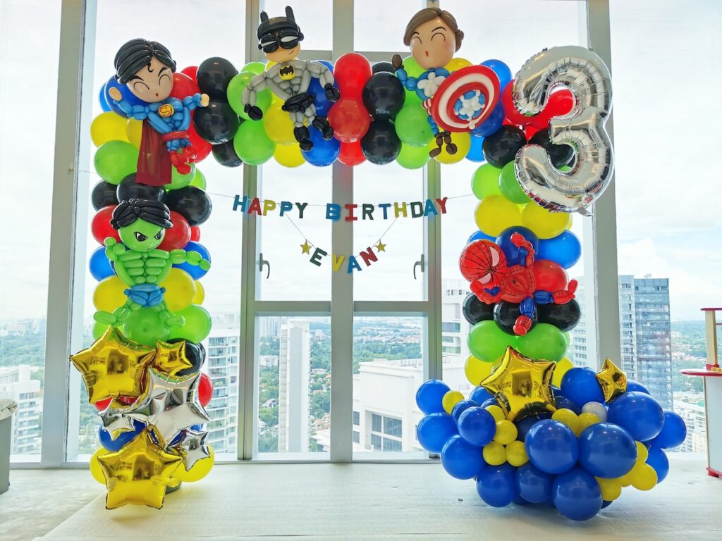 Superhero themed party decoration