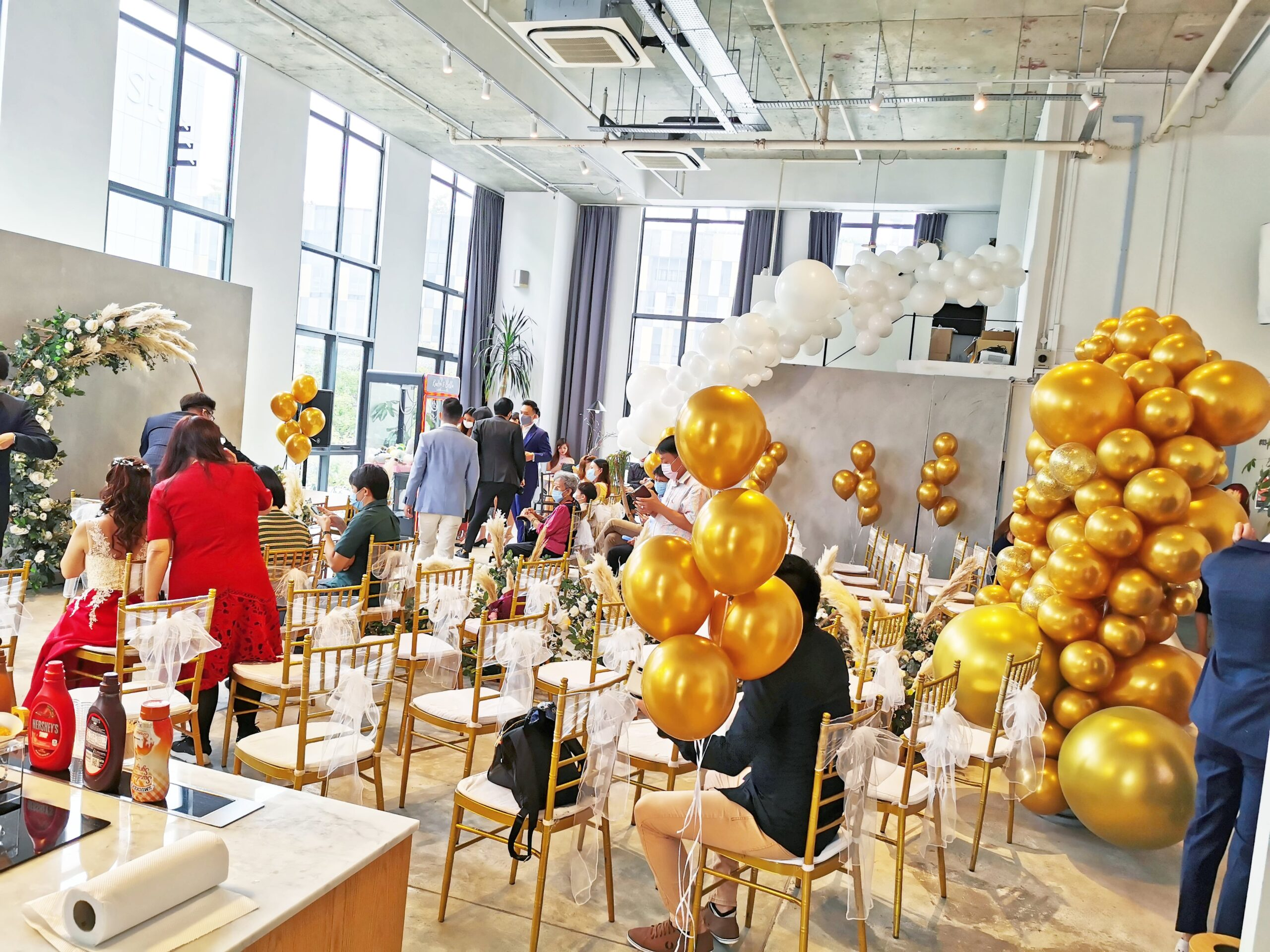 Event Space Balloon decorations scaled