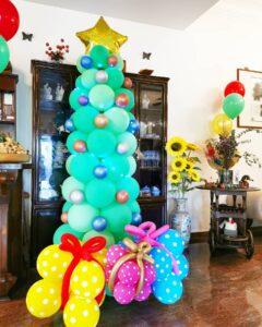 Balloon xmas Tree Decorations