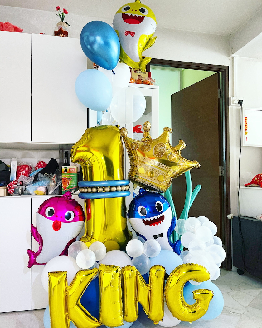 Balloon Number Delivery Baby Shark Theme