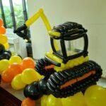 Customised Construction Theme Balloon Sculpture