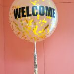 Large confetti balloon delivery