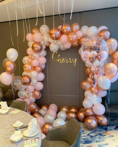Organic Balloon Garland Decoration for birthday party