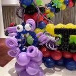 Purple Alien Balloon Sculpture Decor