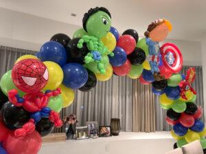 Superhero Balloon Sculpture Decor