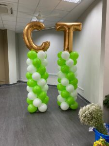 Foil Letter Balloon Columns Decoration