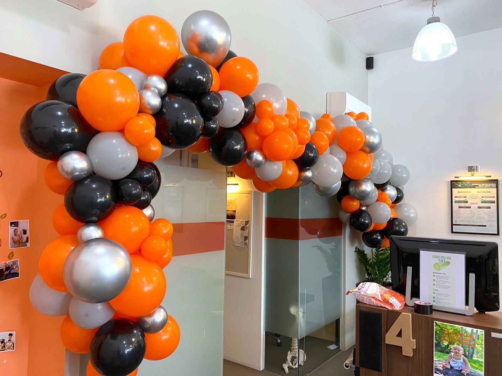 Halloween Theme Organic Balloon Garland