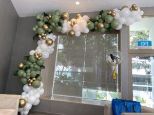 Olive Green Organic Balloon Garland Decoration