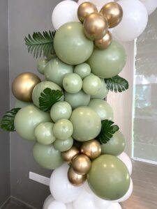 Organic Balloon Decoration Olive Green