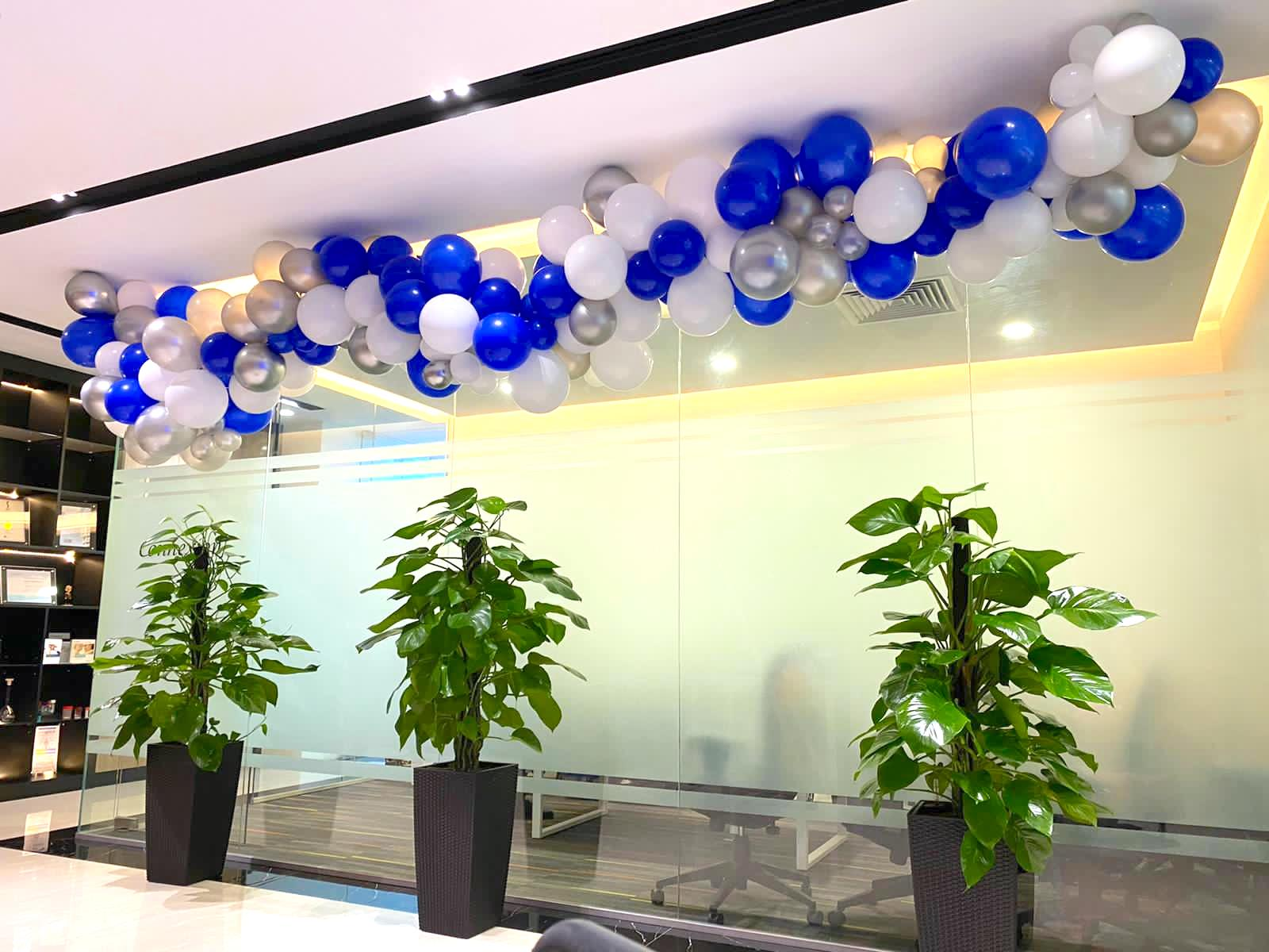 Organic Balloon Decoration for Corporate Office