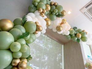 Organic Balloon Garland Decoration Garden Theme
