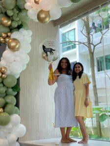 Organic Balloon Garland Olive Green