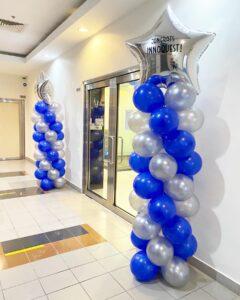 Personalised Balloon Star Pillar Decoration