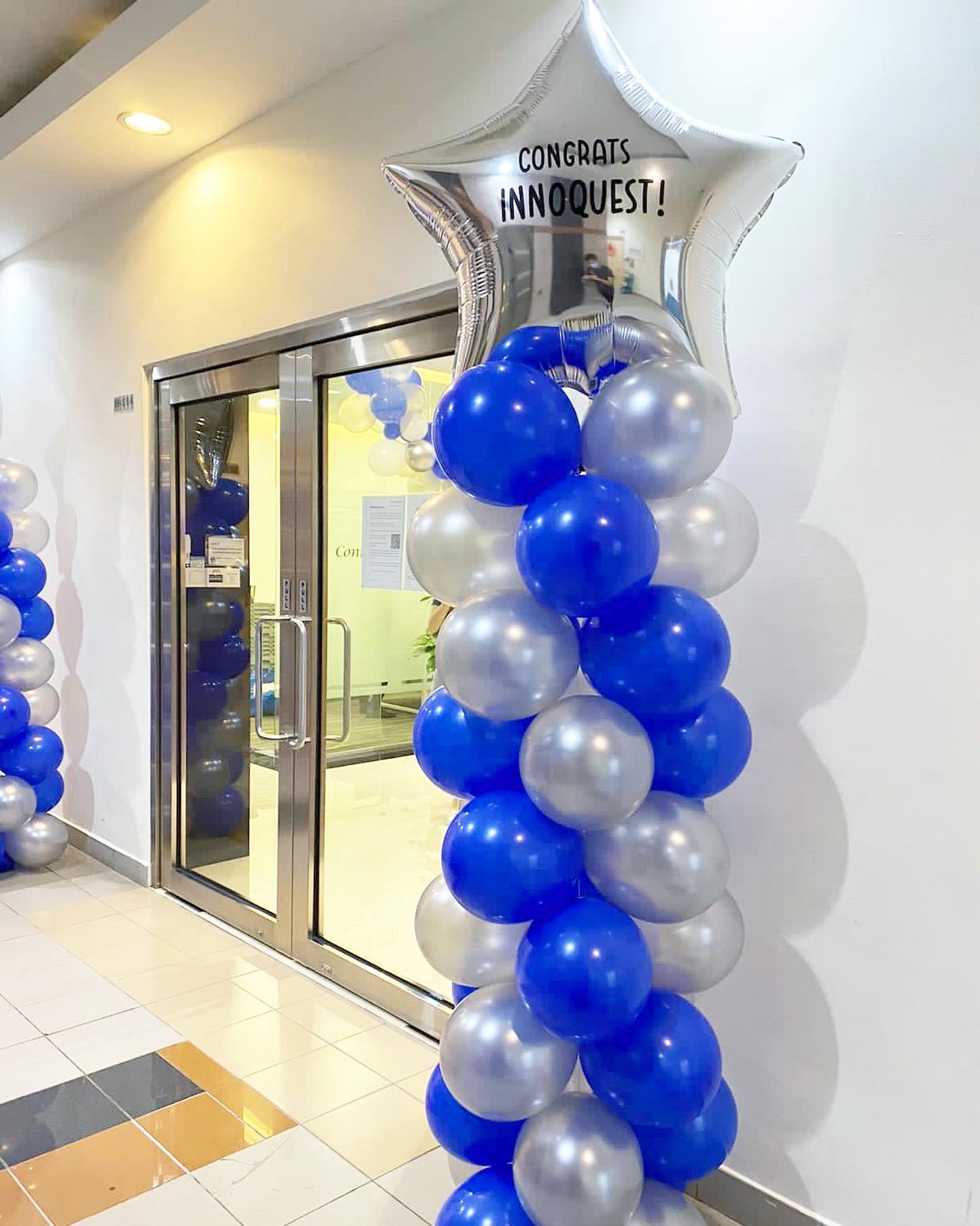 Personalised Star Balloon Pillar Decoration
