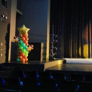 Star Balloon Column with Balloon Monkey