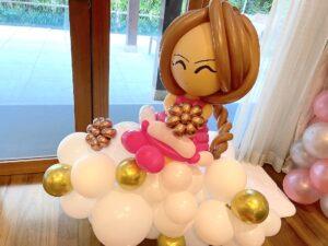 Balloon Girl on Clouds Sculpture