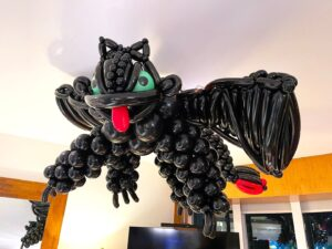 Balloon Toothless Dragon Sculpture on Ceiling Singapore