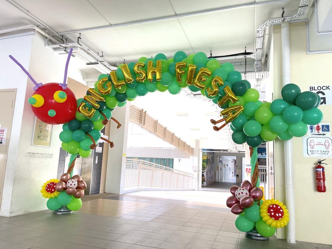 Caterpillar Balloon Arch Decoration