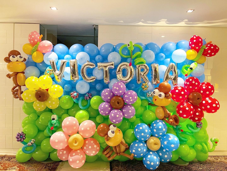 Flower Birthday Balloon Backdrop Singapore