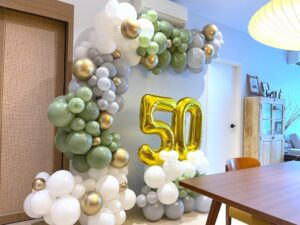 Olive Green Balloon Decorations in Singapore
