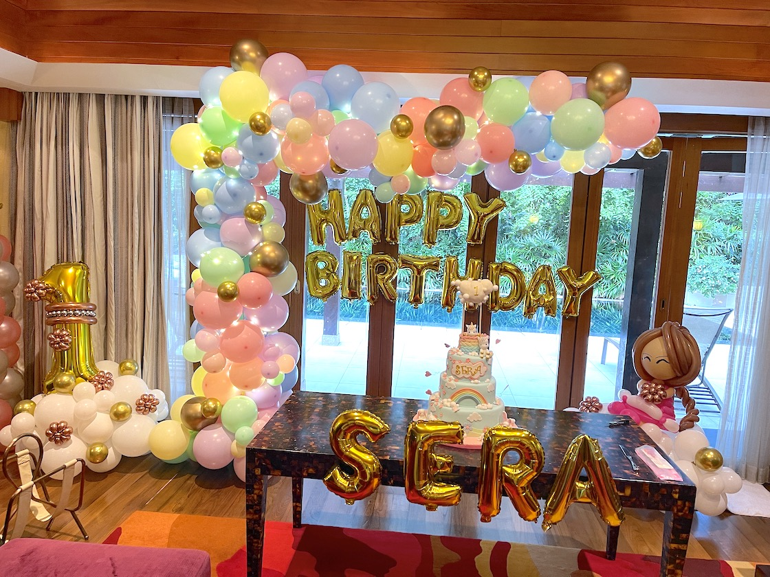 Pastel Organic Balloon Decoration