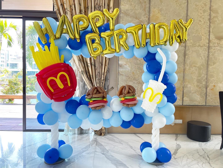 Customise Balloon Photoframe Decoration Singapore