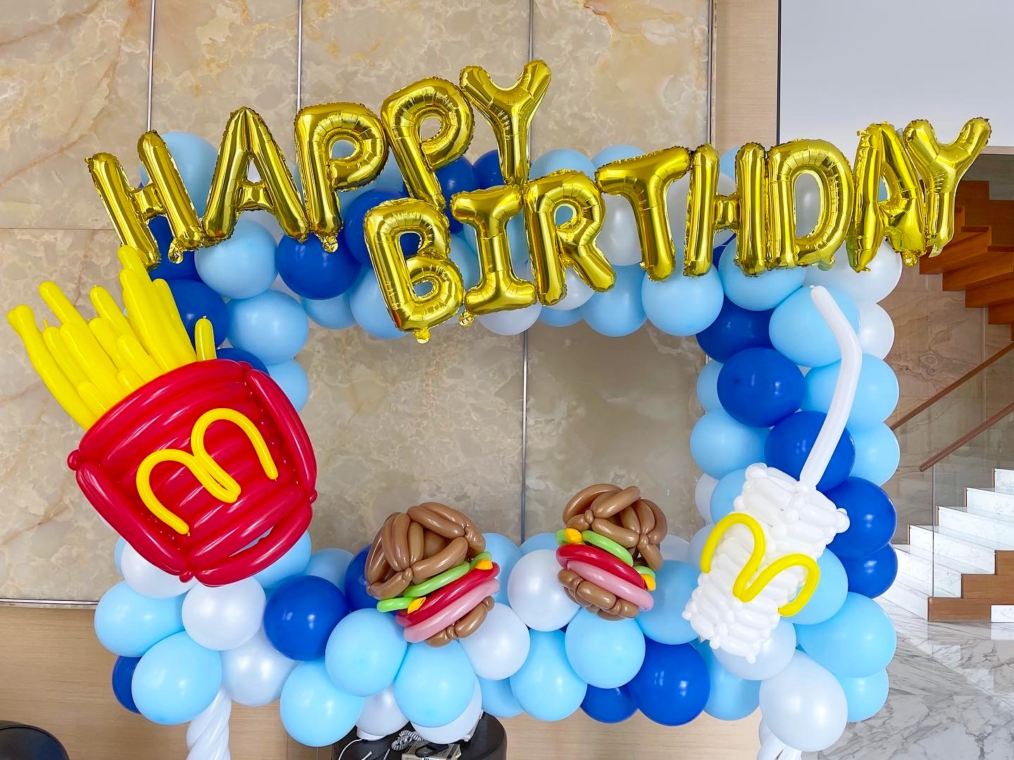 Fast Food Theme Balloon Photo Frame Decorations