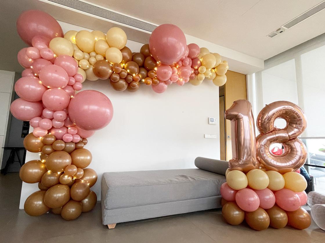 Organic Balloon Decorations Room Styling Singapore