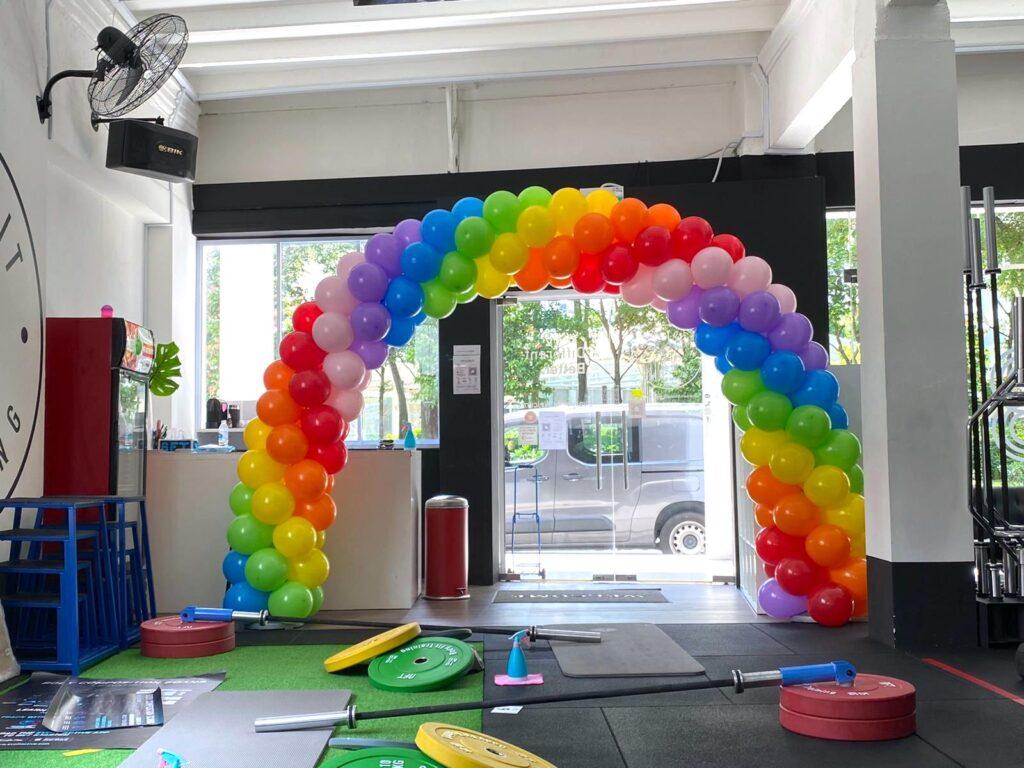 Balloon Spiral Rainbow Arch Decoration