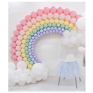 Large Pastel Rainbow Balloon Decoration Singapore