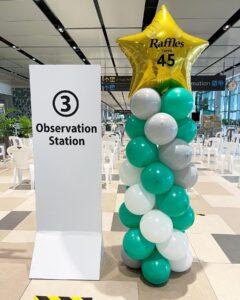 Balloon Pillar Raffles Medical Group Anniversary