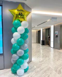 Balloon Pillars for Raffles Medical