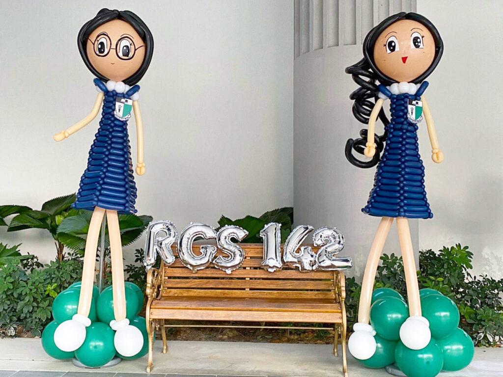 Balloon School Girl Sculpture Decoration Singapore