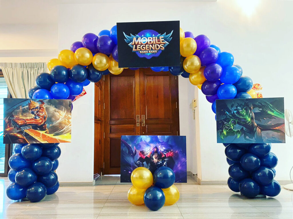 Mobile Legend Balloon Arch Decoration