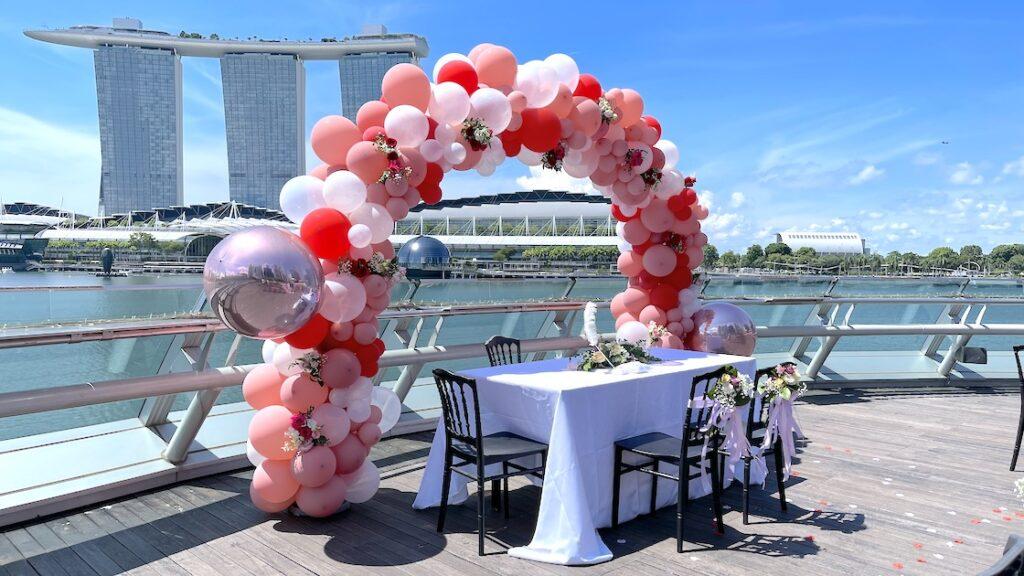 Organic Balloon Arc for Hire Singapore