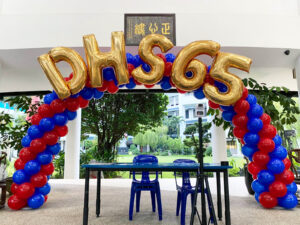 Sprial Balloon Arch with Foil Letters Singapore