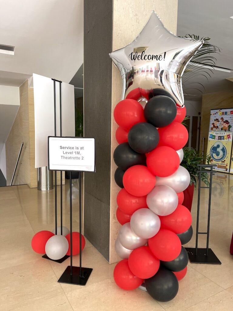 Balloon Pillar for Hire Singapore
